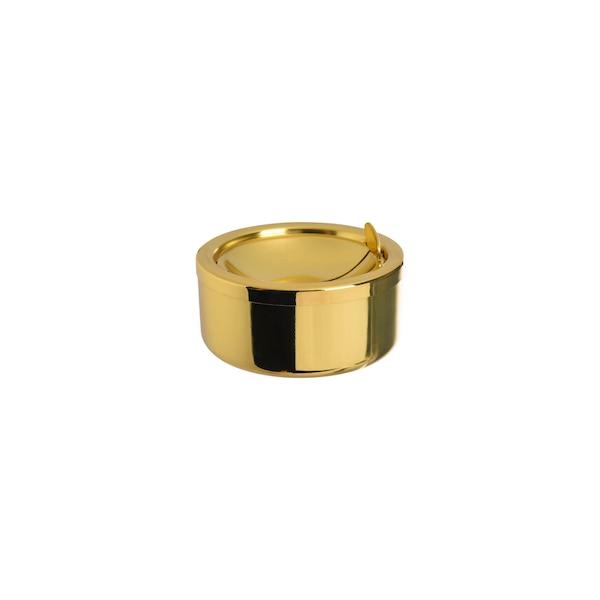 Aschenbecher aus Metall , gold