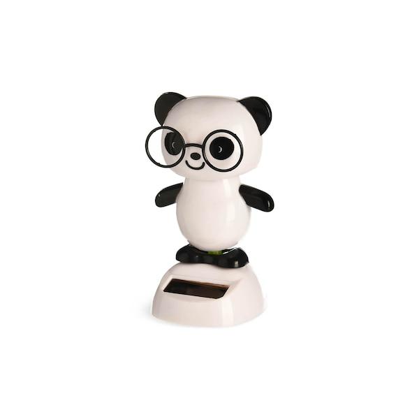 Solar-Wackelfigur Pandabär, weiß