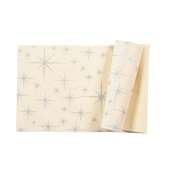 Tischband Sterne, creme