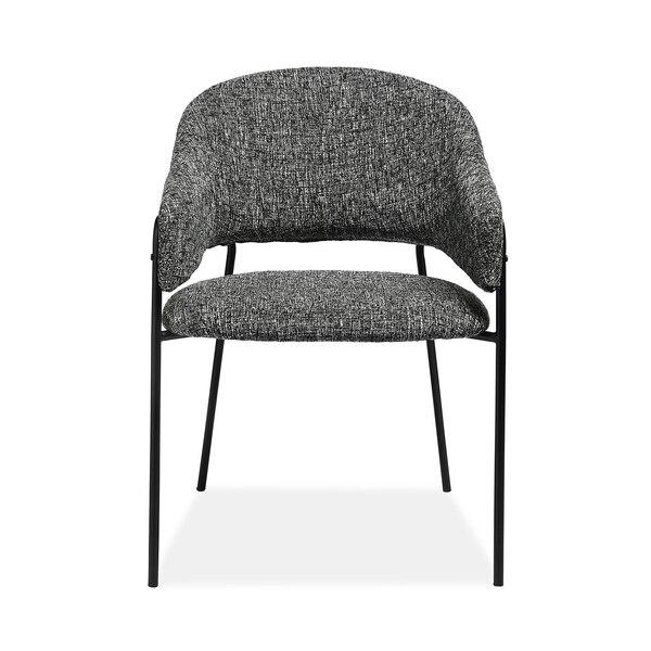 Stuhl mit Armlehnen, meliert, grau