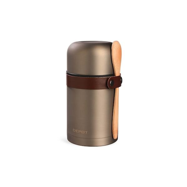Isolierbehälter mit Löffel, platin