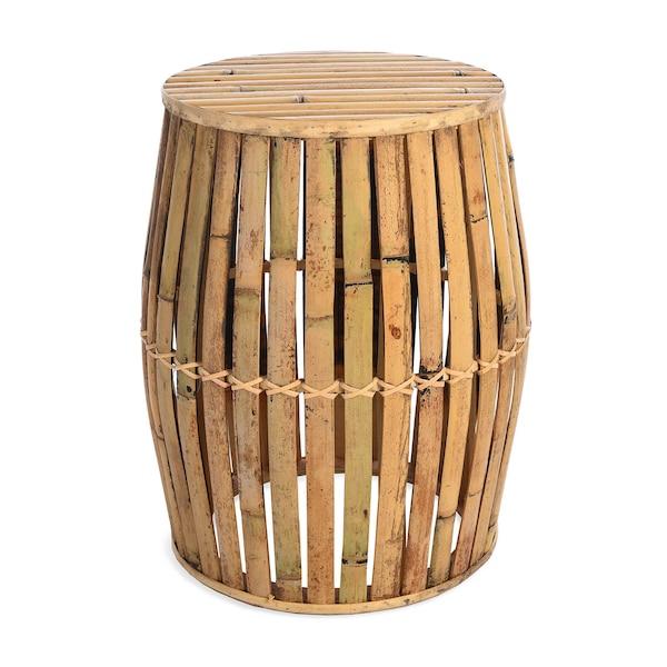 Outdoor Beistelltisch aus Bambus, natur
