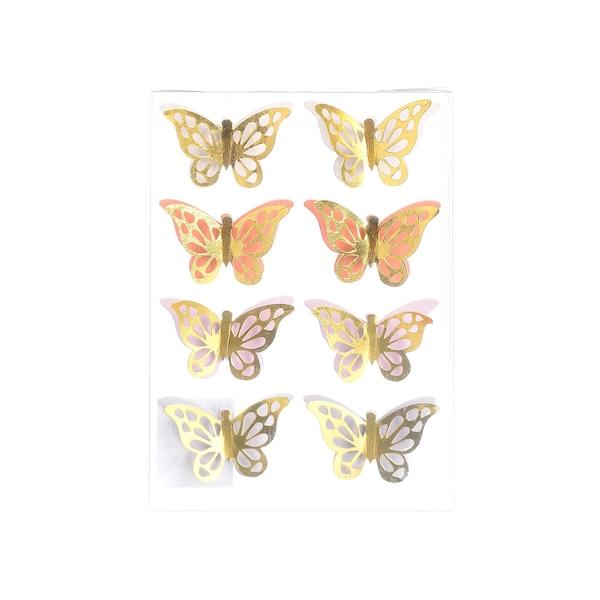 Sticker Schmetterling, gold