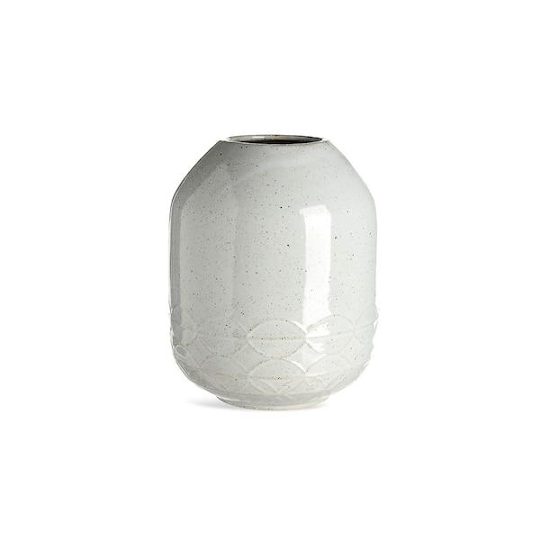 Vase mit Fischmuster, hellgrau
