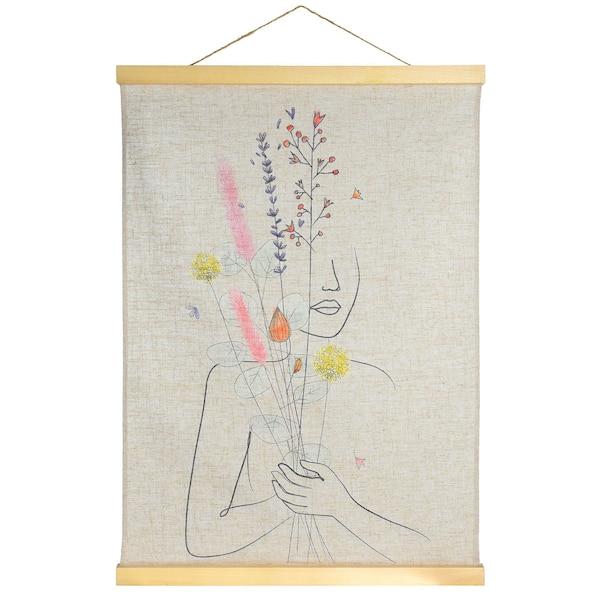 Wandbehang Ikebana Love , pastell