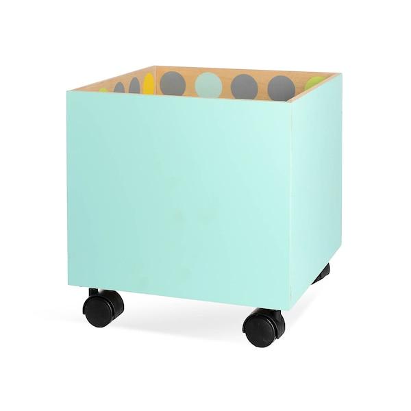 Boîte Dots à roulettes, multicolore