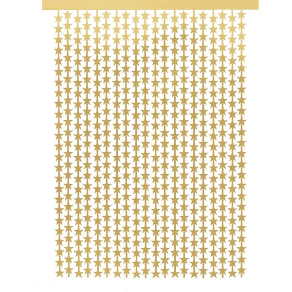 Vorhang Lametta Stern, gold