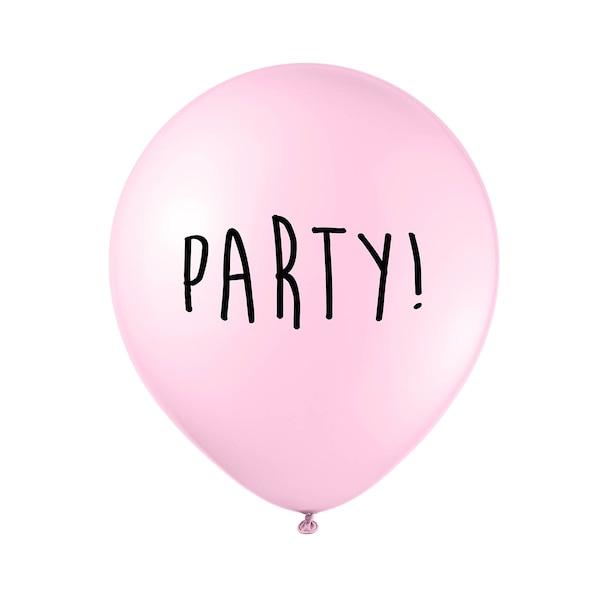 Latexballon Party, altrosa