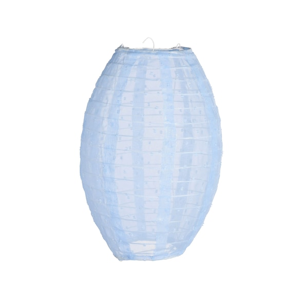 Lampion aus Stoff, hellblau