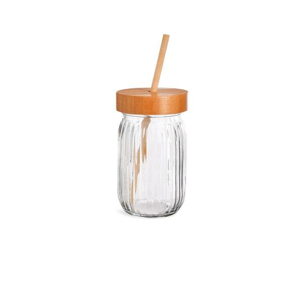 Trinkglas mit Deckel, klar
