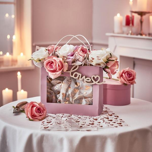 Kunstblumenbündel Rose, bunt