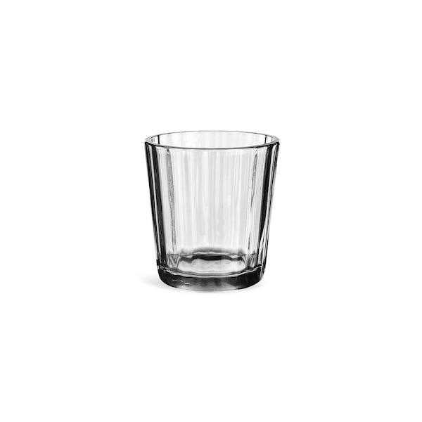 Teelichtglas, grau