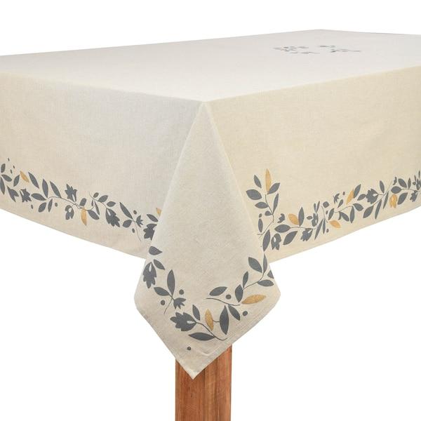 Tischdecke Fleur, natur