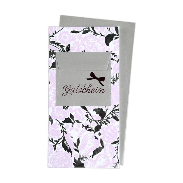 Carte pliante Bon cadeau, multicolore