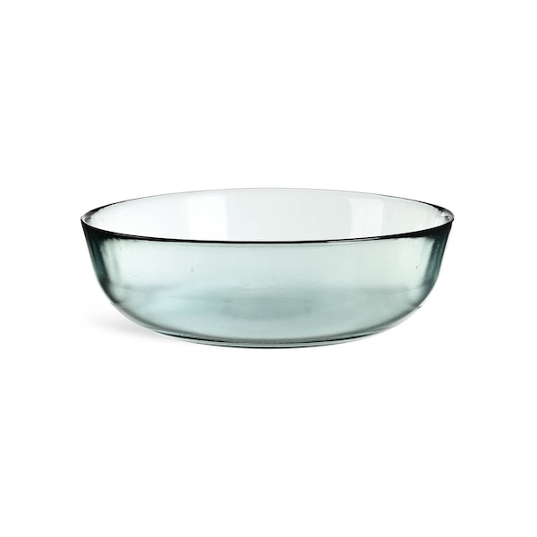 Salatschüssel aus Glas, blaugrün
