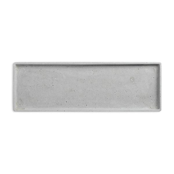 Dekotablett aus Kunststein, grau