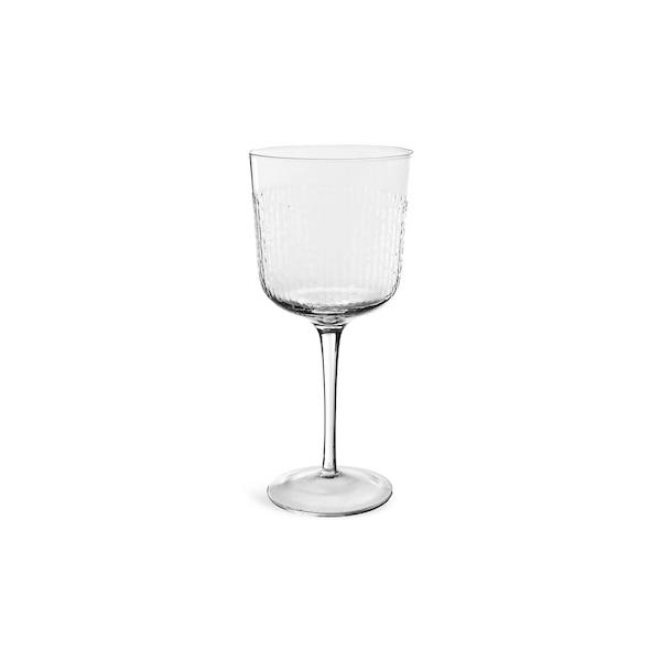 Weinglas Hammered, klar