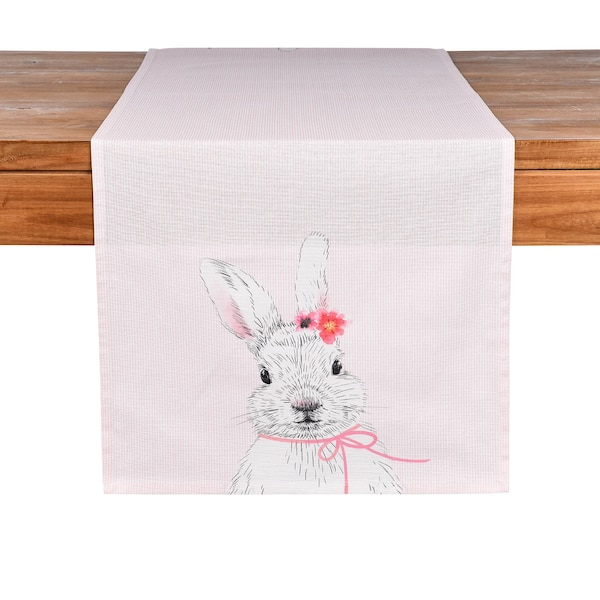 Tischläufer Hase Susi, rosa