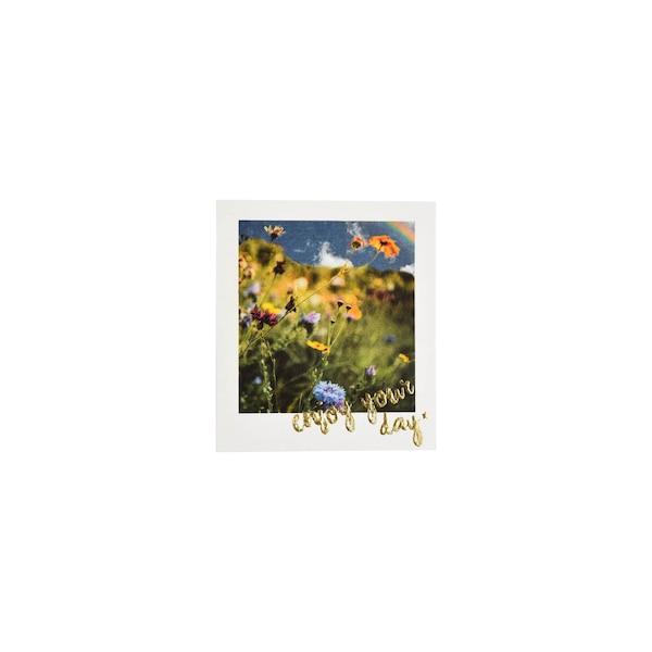 Postkarte Wiesenblumen, bunt