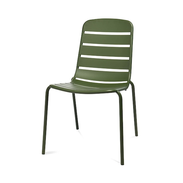 Outdoor-Stuhl, stapelbar, olivgrün