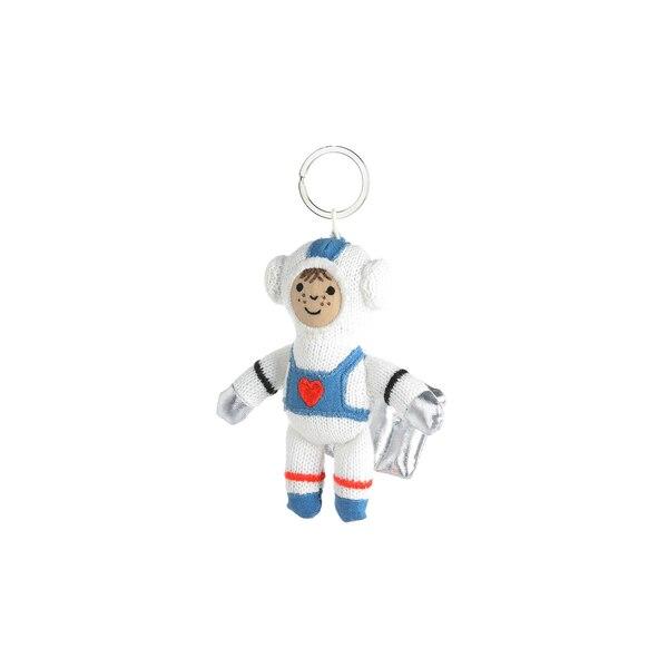 Schlüsselanhänger Astronaut, weiß