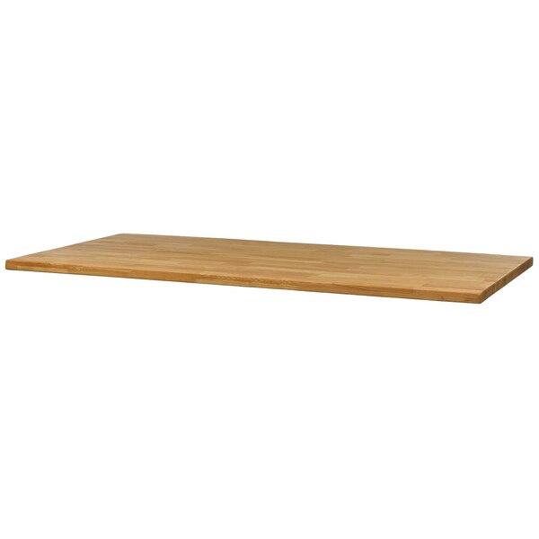 Eichenholz-Tischplatte DEPOT Anton mit gerader Kante, natur