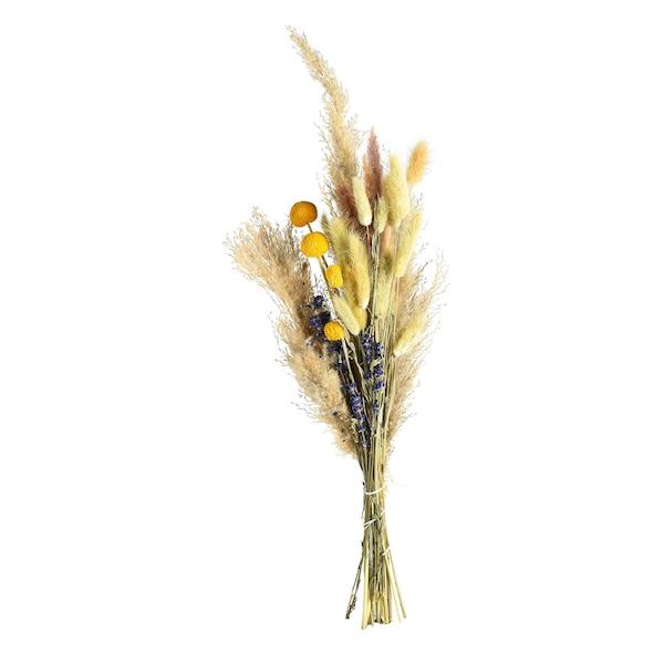 Strauß Trockenblumen, gelb