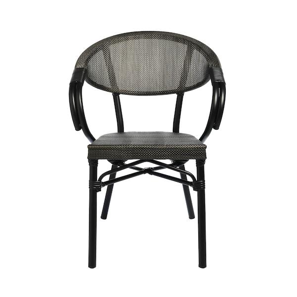 Outdoor-Armlehnstuhl Café, schwarz