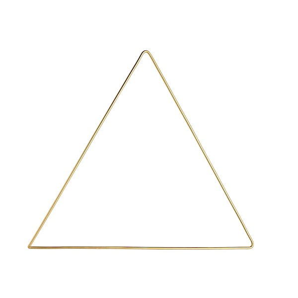 Metallobjekt Triangel, gold