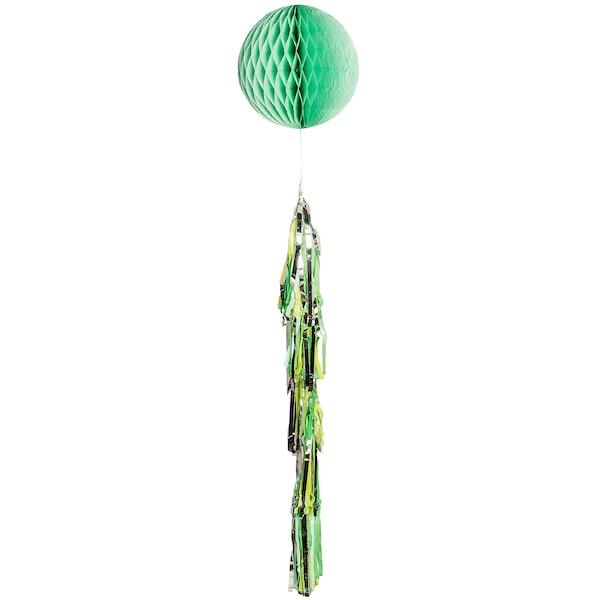 Wabenball mit Tassel, mintgrün