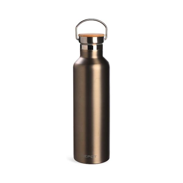Isolierflasche , silber