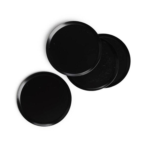 Kerzenteller, schwarz