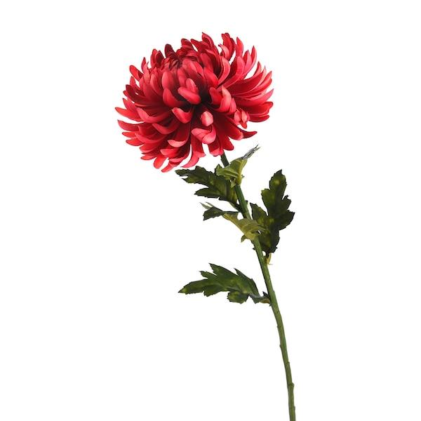 Kunststielblume Dahlie, kirschrot