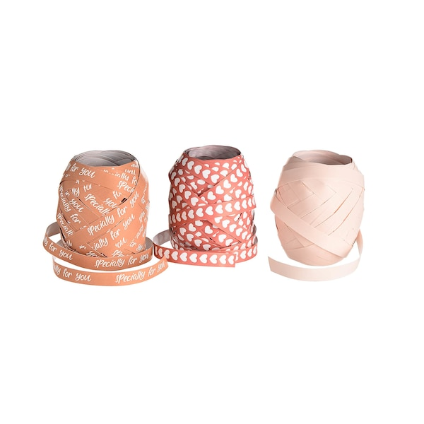 Ruban cadeau Specially, lot de 3, rose