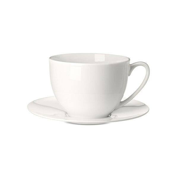 Kaffetasse Pure mit Untertasse , weiß
