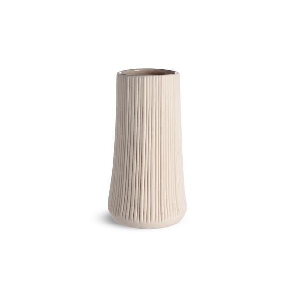 Vase Notches, weiß