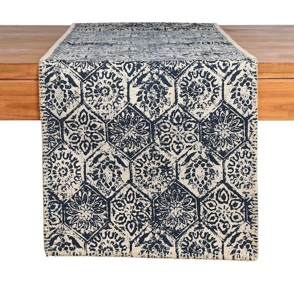 Tischläufer Tiles, dunkelblau
