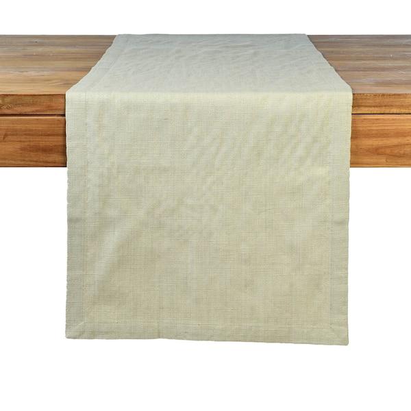 Tischläufer Glitter mit Struktur, natur