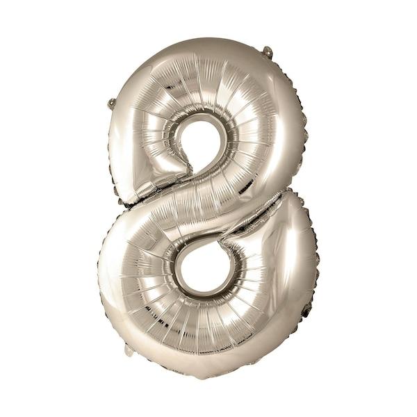 Ballon en film plastique en forme de 8, doré