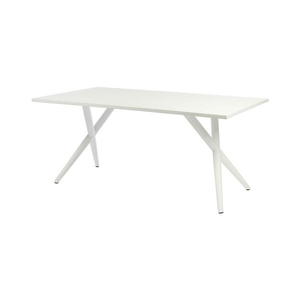 Outdoor-Esstisch aus Aluminium, weiß