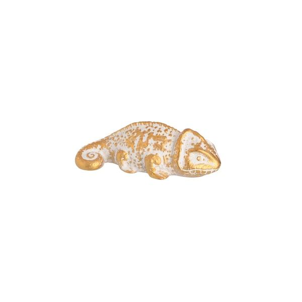 Dekofigur Chamäleon, gold