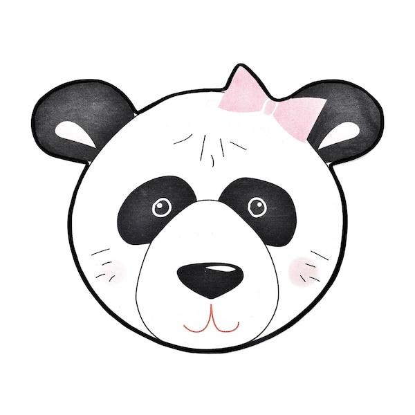 Teppich DEPOT Panda, weiß