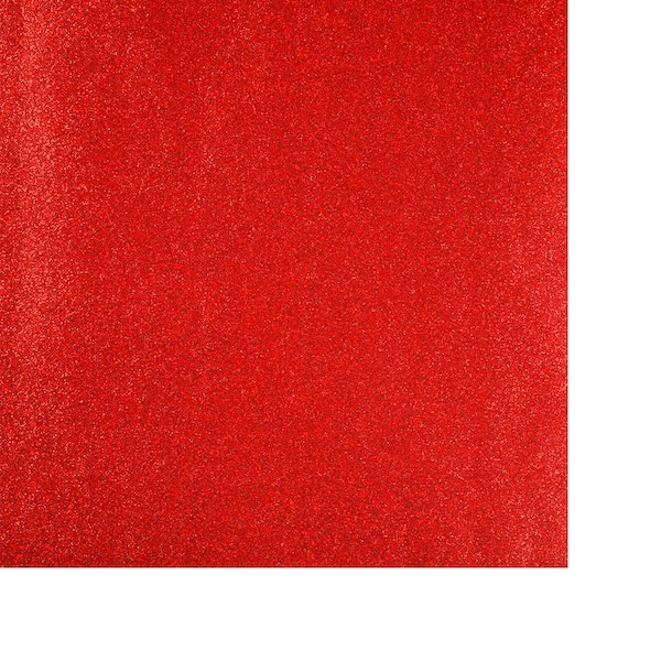Geschenkpapier Uni Glitter, rot
