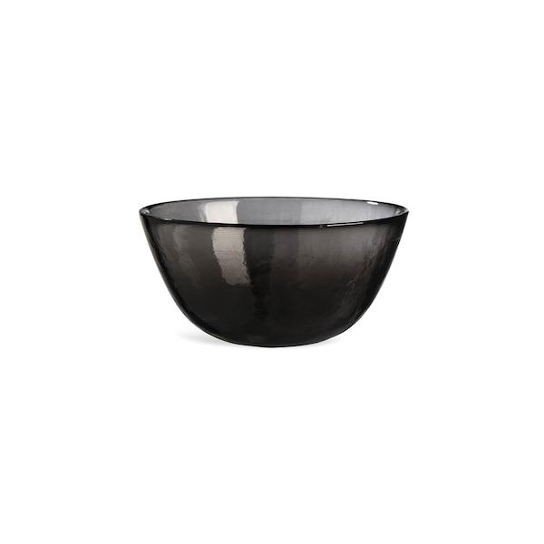 Müslischale aus Glas, schwarz