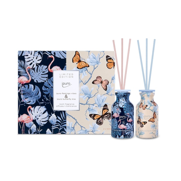 LIMITED EDITION ipuro butterfly kiss & flamingo vibes  Raumduft 2x 50 ml, ohne Farbe