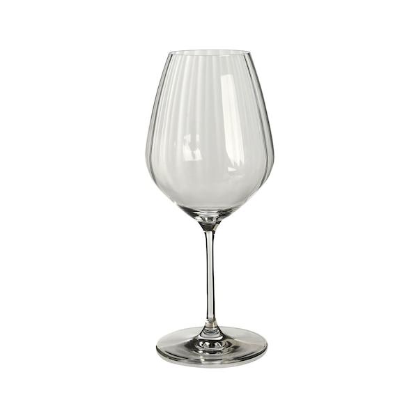 Rotweinglas Optik, klar
