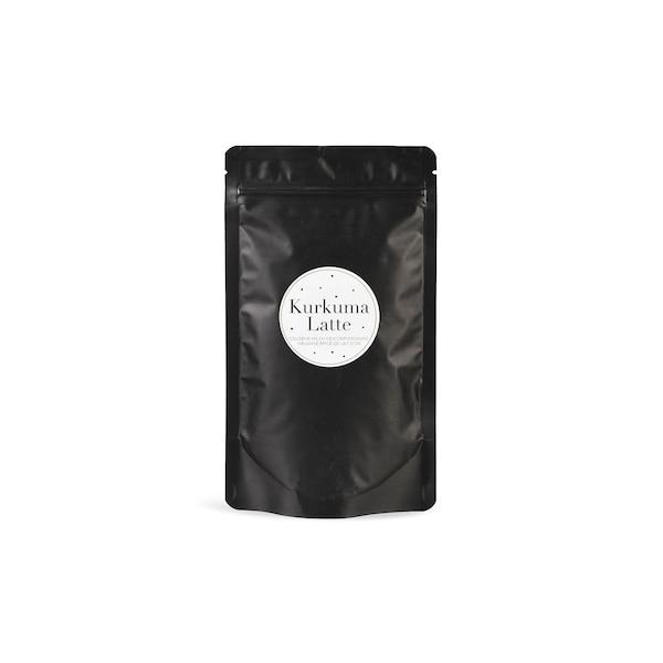 Kurkuma-Latte Mischung, ohne Farbe
