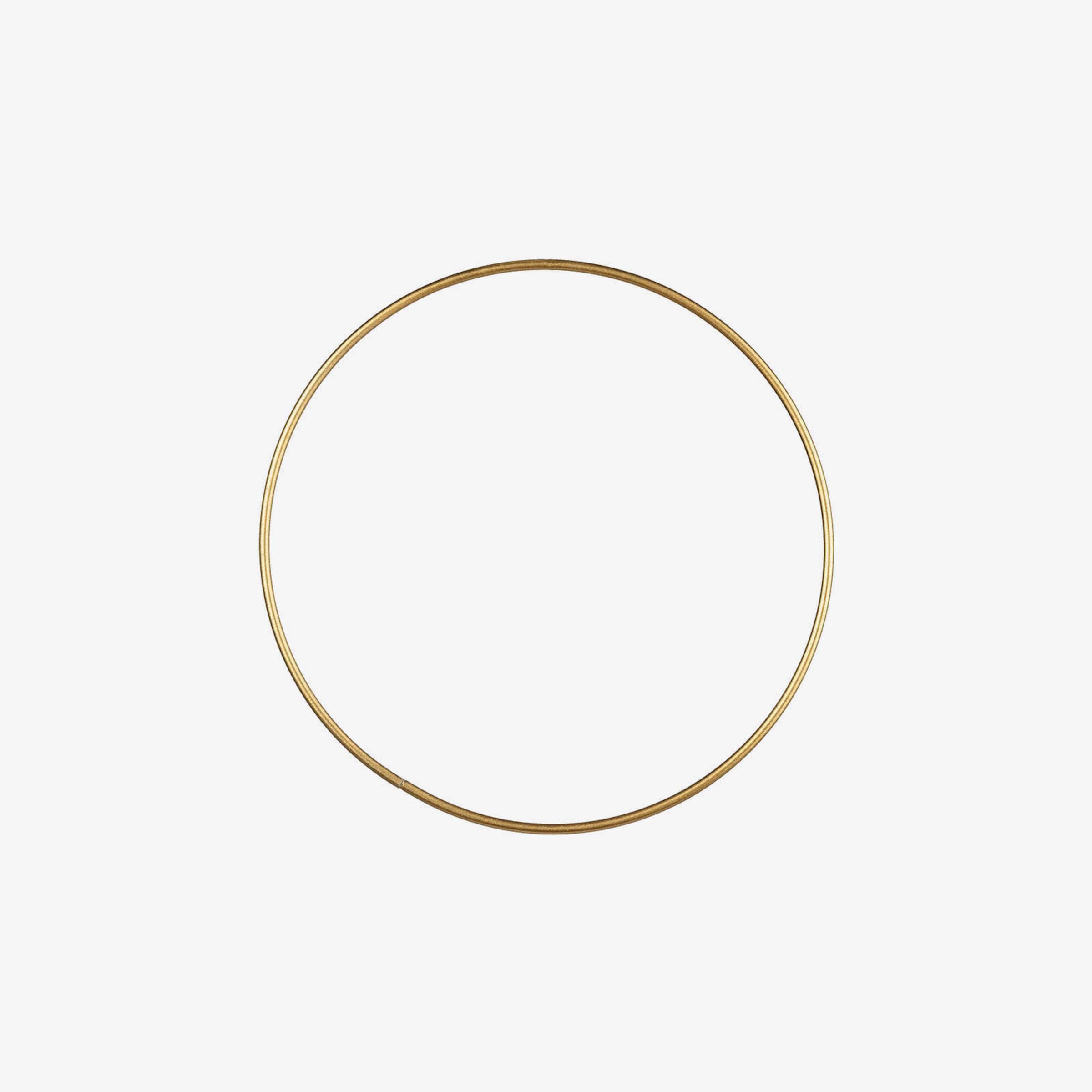 Metallring, D:18cm, gold