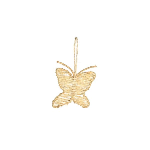 Dekofigur Schmetterling, geflochten, braun