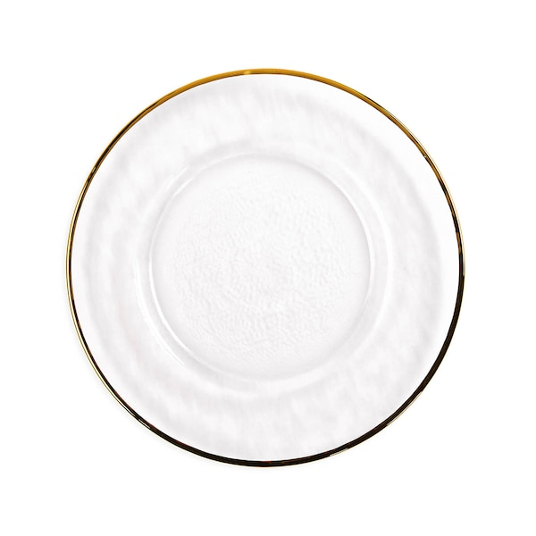 Platzteller mit Goldrand, gold